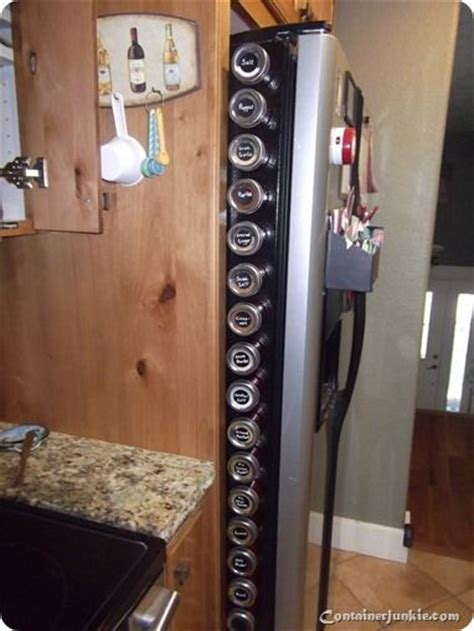 Magnetic Spice Rack For Refrigerator by Spice Rack Storage Solutions Sand And Sisal