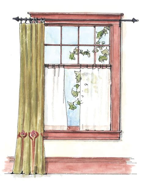 best 25 craftsman curtains ideas on window