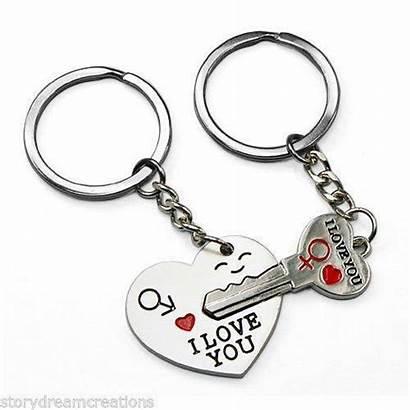 Heart Key Keychain
