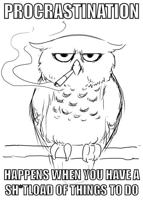 Art Owl Meme - art student owl meme by yoru kage12 on deviantart