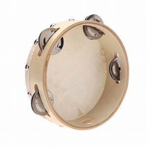 6in Hand Held Tambourine Drum Bell Metal Jingles ...
