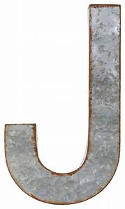 Metal alphabet wall decor letter j industrial wall for Letter j wall hanging