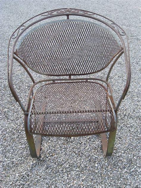 vintage woodard patio chairs woodard vintage bounce dining set at 1stdibs