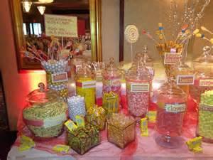 Coral Wedding Candy Bar