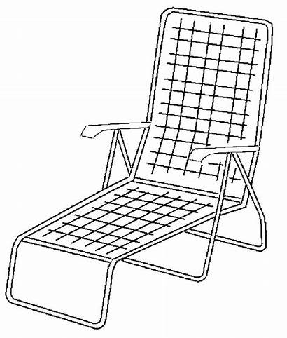 Chair Coloring Rocking Lawn Pages Beach Printable