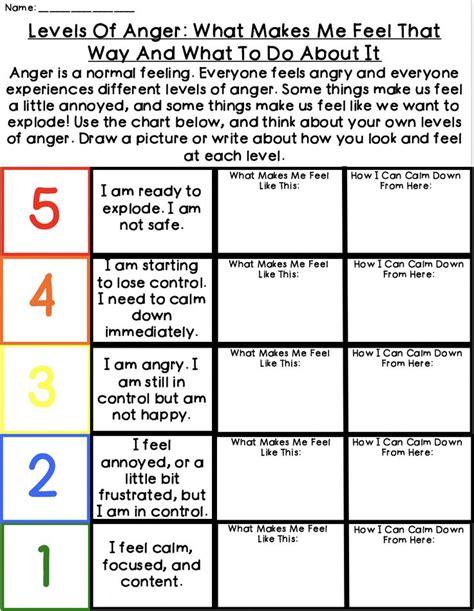 anger management worksheets anger management worksheets