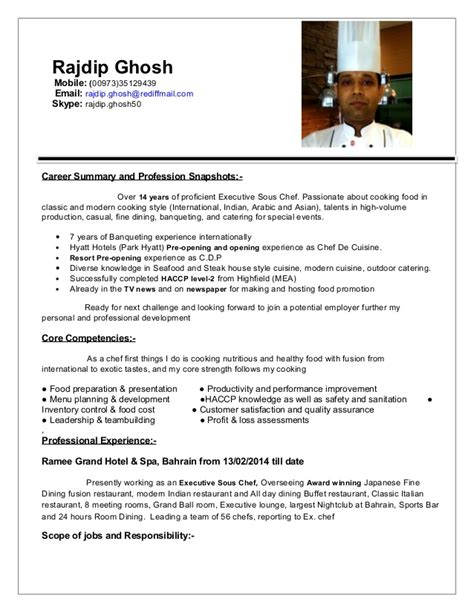 Upload Resume For In Jaipur by Resume Ex Sous Chef