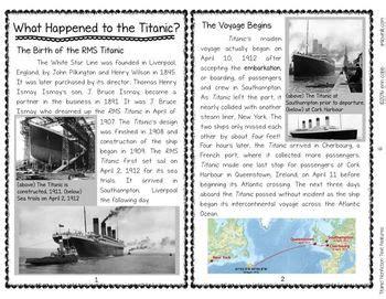 titanic nonfiction text features comparing multiple