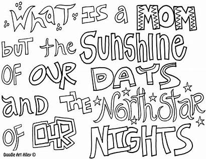 Coloring Quote Doodle Mother Alley Mothers Religious
