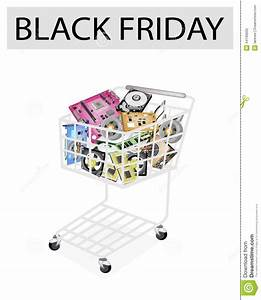 Set Of Hardware Computer In Black Friday Shopping Cart ...