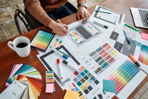 web designers working  user interface project stock