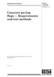 Concrete paving flags - Requirements and test methods (AMD