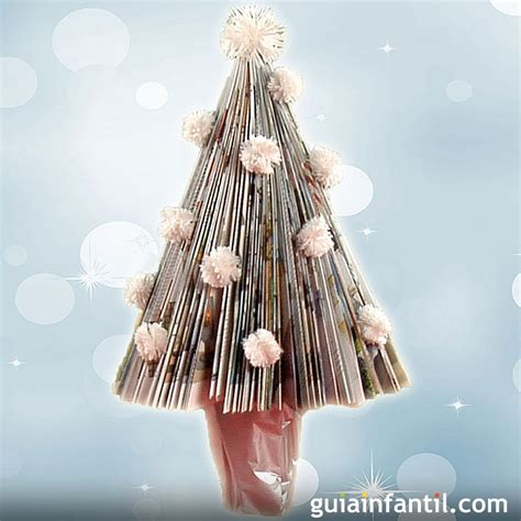 como adornar un arbol de navidad de papel manualidad de 225 rbol de navidad con papel de revista