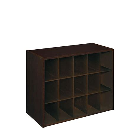 Closetmaid Stackable 15 Cube Organizer - closetmaid 24 in w x 19 in h espresso stackable 15 cube