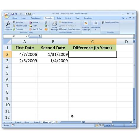calculate partial year difference