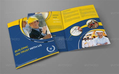 construction company brochure templates   templates