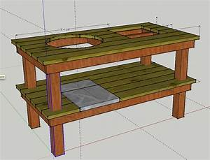build a weber grill table