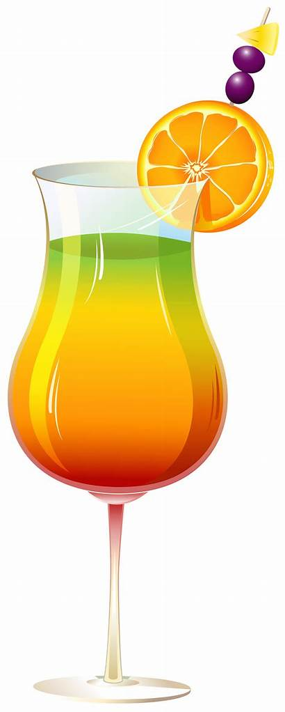 Cocktail Clipart Exotic Drinks Tropical Transparent Clip