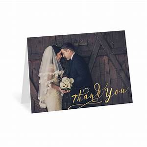 rustic glow foil thank you card invitations by dawn With wedding thank you cards invitations by dawn