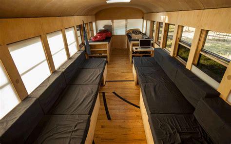hank bought  bus  school bus converted mobile home video jebiga design lifestyle