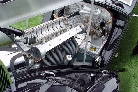 Bugatti Type 51 Engine Bay.