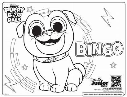Coloring Disney Printable Puppy Dog Pals Colouring