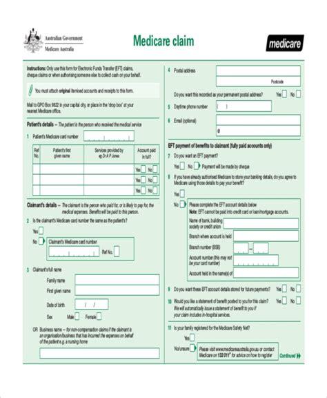 medicare part a form sle medicare application form design templates