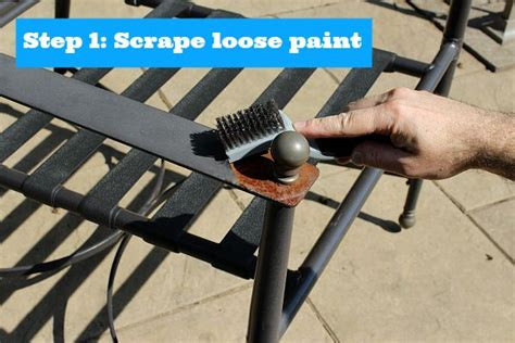 painting metal patio furniture stuff for the home