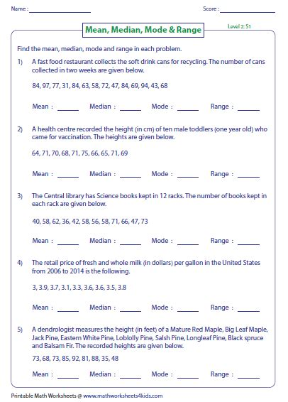 rounding worksheets grade 3 median mode and range worksheets