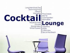 Cocktailbar Für Zuhause : wandtattoo moderne cocktail lounge bei ~ Indierocktalk.com Haus und Dekorationen