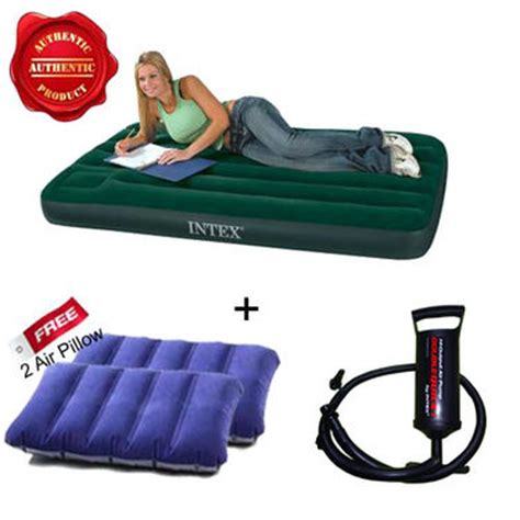 Intex Sofa India by Buy Combo Of Intex Air Mattress Free 2 Pillows