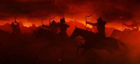 total war attila black horse cinematic  horde