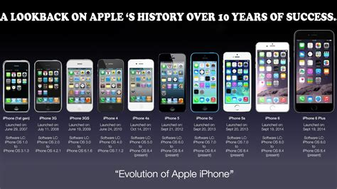 history of iphone apple iphone 2g 2007 to iphone 8 2017 a look back on