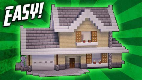 minecraft   build  suburban house tutorial youtube