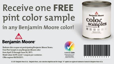 benjamin moore coupons  pint  arborcoat stain  paint