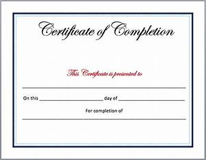 completion certificate template microsoft word templates With certificate templates for word free downloads