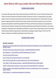John Deere 535 Log Loader Service Manual Down By