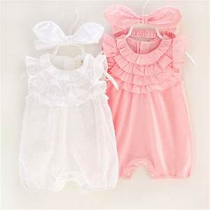 2017 Summer Baby Girl Rompers Lace Flower Jumpsuit Floral ...