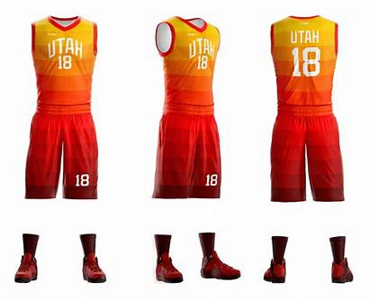 Basketball Uniform Sublimated Uniforms Utah Gitch