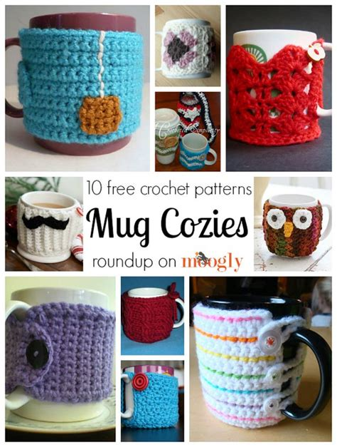 After looking at one of mom on timeout's projects, i decided to pick up my crochet again. 10 Free Patterns for Marvelous Crochet Mug Cozies!