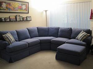Blue microfiber sectional sofa hotelsbacaucom for Big comfortable sectional sofa