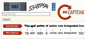 1  Recaptcha With A Sequence Of Digits Extracted From Street View Imagery