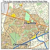 Aerial Photography Map of Chantilly, VA Virginia