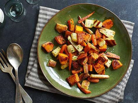Seasonal root vegetables including squash, sweet potatoes, carrots, and rutabaga have a sweet and hearty flavor when roasted with olive oil and herbs. 33 Clever Christmas Dinner Ideas You Need To Try This Year - Giant Singapore