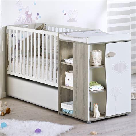 chambre alibaby sauthon nael lit de chambre transformable 60x120 frêne blanc de