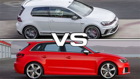vw golf gti clubsport   audi rs youtube
