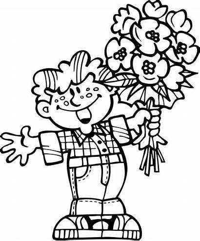Coloring Flowers Bouquet Pages Printable Coloringtop