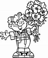 Coloring Flowers Bouquet Pages Printable Kerra Coloringtop sketch template