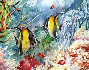 tropical fish paintings - TROPICAL FISH COLORS by Marcia ...