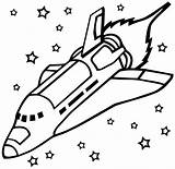 Rocket Coloring Printable Transportation Drawing sketch template